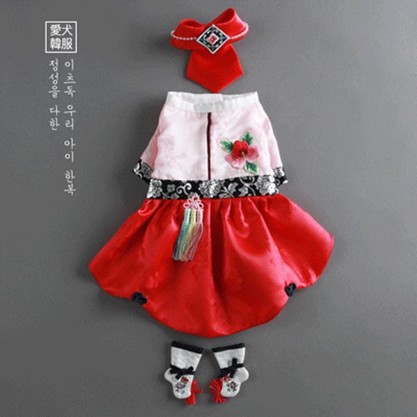 [이츠독] 윤슬 공주한복 2XL 강아지한복